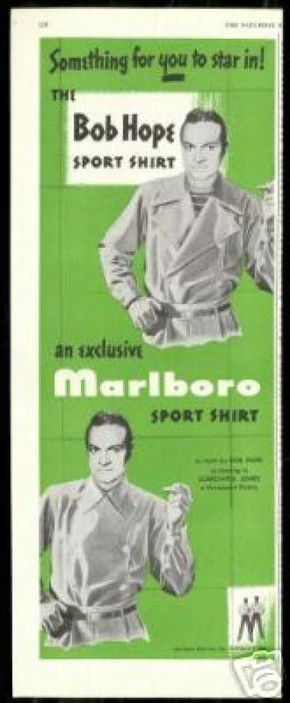 Bob Hope Marlboro Sport Shirt Fashion Art (1949)