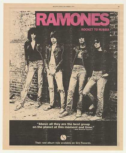 Ramones Rocket To Russia Sire Records (1977)