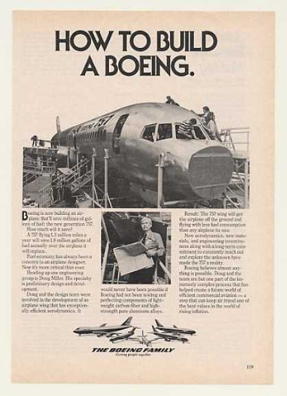 Boeing Building 757 Airplane Aircraft Photo (1980)