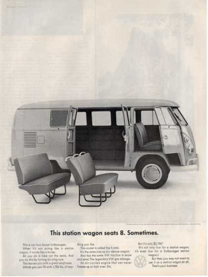 Volkswagen Station Wagon Hippe Bus Ad T (1964)