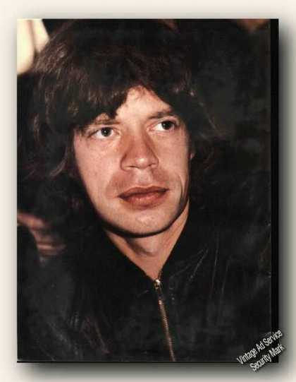 Nice Mick Jagger Picture Head Shot Print Feature (1978)