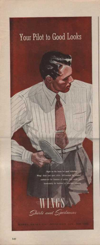 Wings Shirts & Sportswear for Men (1942)
