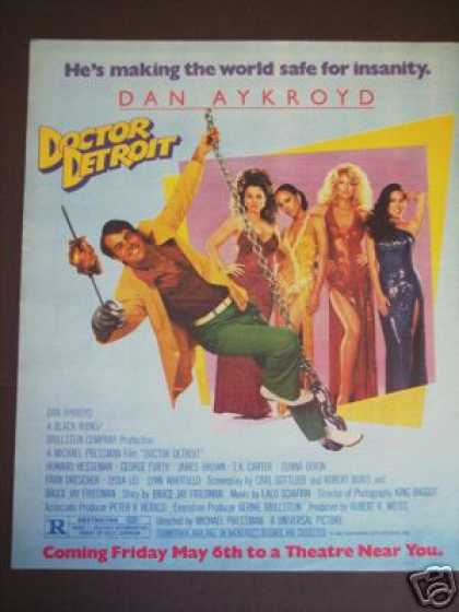 Dan Aykroyd Movie Promo Ad Doctor Detroit (1983)