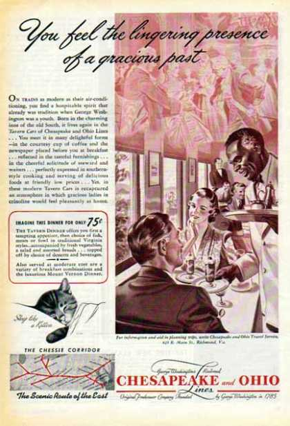 Chesapeake & Ohio Railroad Ad- Chessie Corridor – Sold (1940)