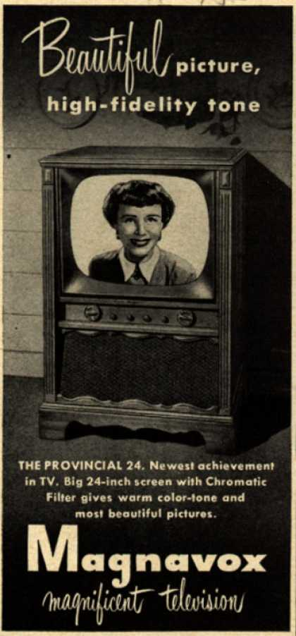 Magnavox Company's Television – Beautiful picture, high-fidelity tone (1953)