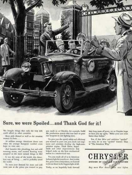 "Wwii Art ""Sure We Were Spoiled"" Chrysler (1944)"