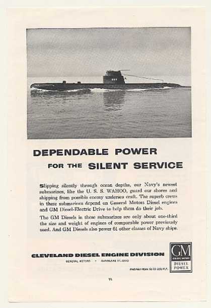 USS Wahoo Submarine GM Cleveland Diesel Engine (1954)