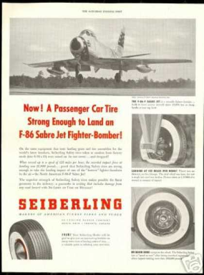 North American F-86-F Sabre Jet Seiberling Tire (1954)