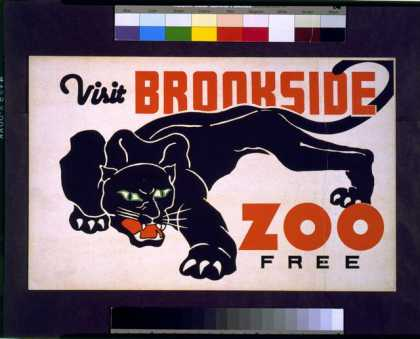 Visit Brookside Zoo free. (1937)