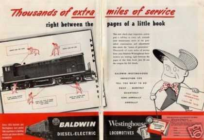 Baldwin Locomotive 2 Page Ad Vo Switcher (1944)