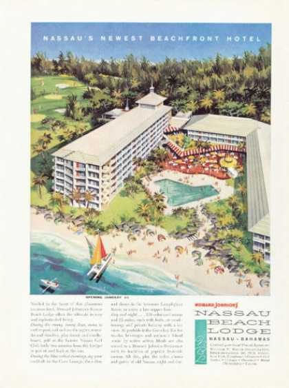 Howard Johnson Hotel Ad Nassau Bahamas (1959)