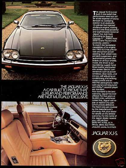 Black Jaguar XJ-S XJS Car Interior Exterior (1983)