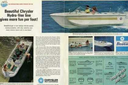 Chrysler Hydro-vee Boats Photos (1967)