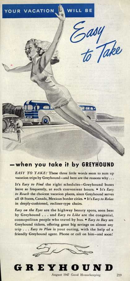 Greyhound's Vacation Travel – Your Vacation Will Be Easy to Take (1947)