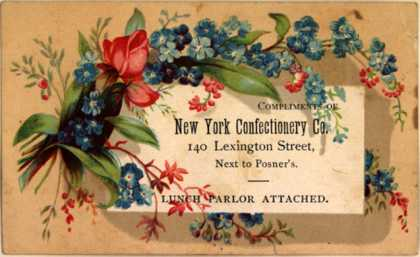 New York Confectionery Co.'s Confectionery Co. – Compliments of New York Confectionery Co.