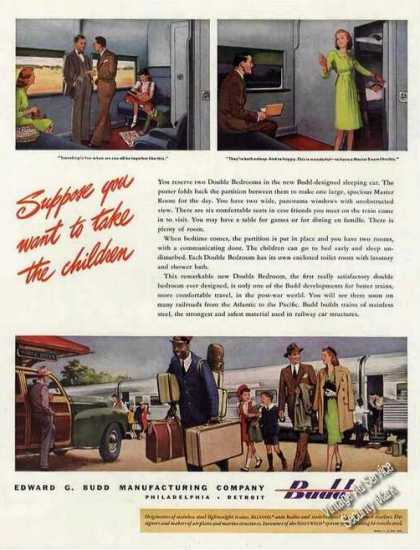 Budd Designed Sleeping Cars Trains (1946)