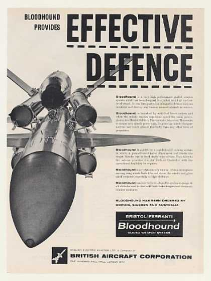 BAC Bristol Ferranti Bloodhound Guided Weapon (1961)