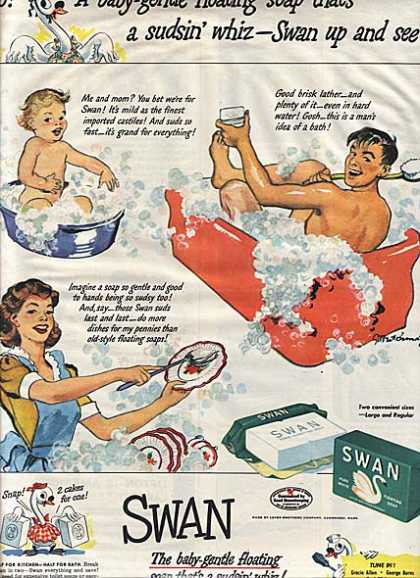 Swan's Pure White Floating Soap (1942)