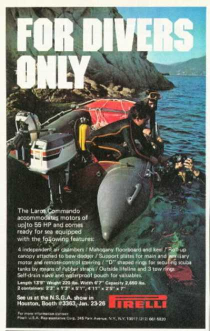 Pirelli Laros Commando Inflatable Dive Boat (1975)