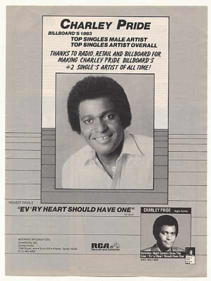 Charley Pride Night Games Photo Booking (1983)
