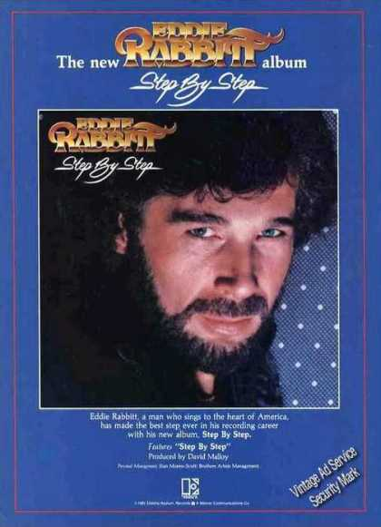 "Eddie Rabbitt Photo ""Step By Step"" Album (1981)"