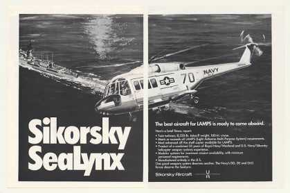 US Navy Sikorsky SeaLynx Helicopter (1971)