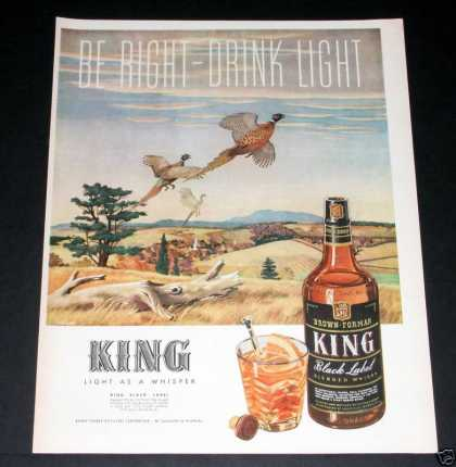King, Black Label Whisky (1944)
