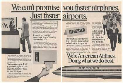 American Airlines Faster Airport Service 2-Page (1979)
