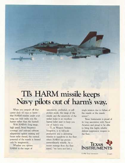 Texas Instruments TI HARM Missile Navy Aircraft (1985)