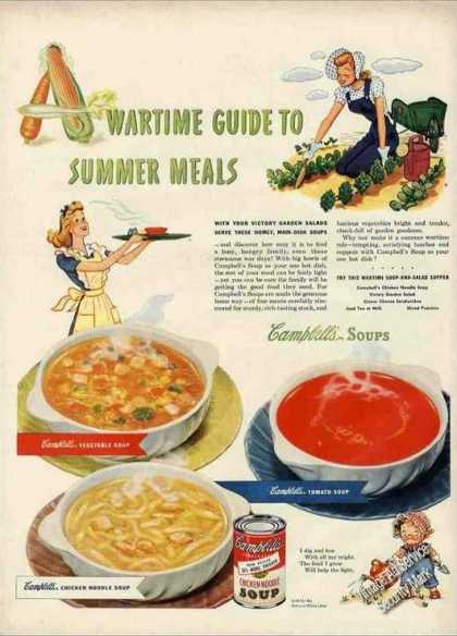 Campbell's Wartime Guide To Summer Meals Soups (1943)