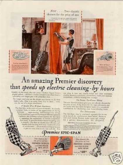 Premier Vacuum Cleaner Color (1929)
