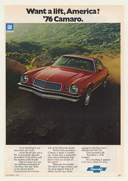 Chevrolet Chevy Camaro Sport Coupe Photo (1976)