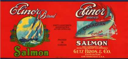 Elinor Brand Salmon Label – San Francisco, CA