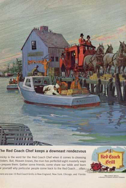 Red Coach Grill Seafood Boat Delivery (1965)