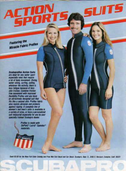 Scubapro Action Sports Scuba Diving Suits (1979)