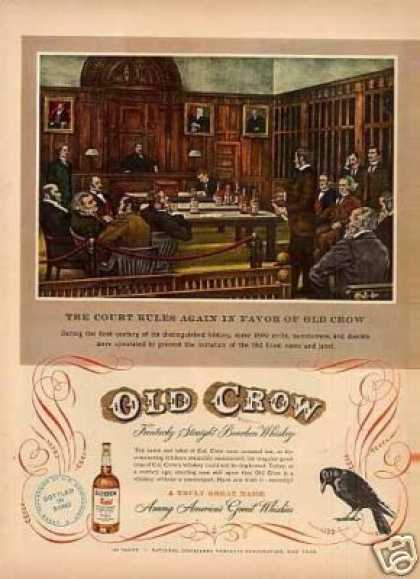 "Old Crow Whiskey Ad ""The Court Rules... (1949)"