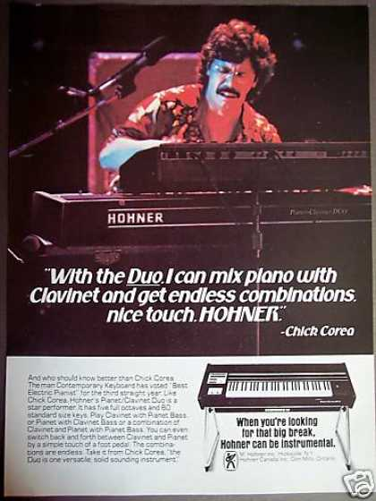 Chick Corea Hohner Pianet Clavinet Duo Photo (1980)