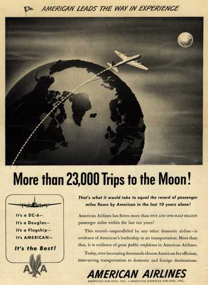 American Airlines – More than 23,000 Trips to the Moon (1947)