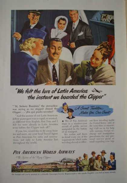 Pan American World Airways Airline Latin America Clipper (1947)