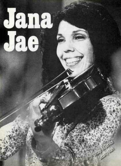 Jana Jae Magazine Print Photo Violin (1980)