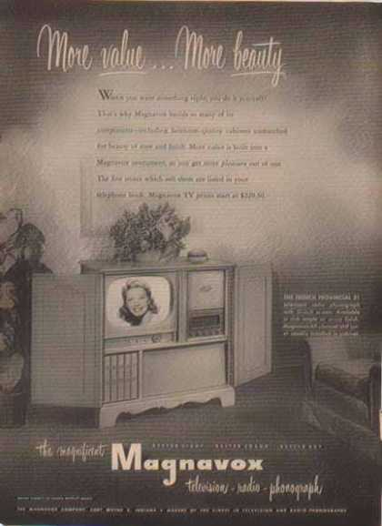 Magnavox Television – French Provincial (1952)