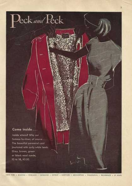 Peck & Peck Women Coat (1946)