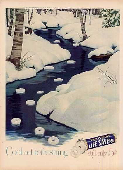 Life Savers Candy Ad &quot;Cool and Refreshing... (1951)