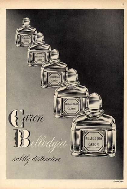 Caron Bellodgia French Perfume Bottle (1960)