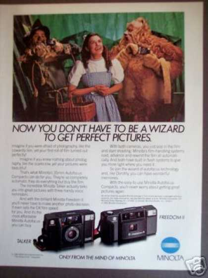 Dorothy Wizard of Oz Photo Minolta Cameras (1985)