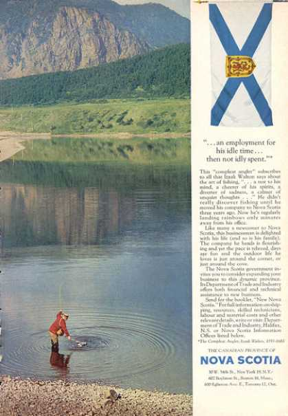 Nova Scotia Fishing Mountain Canada Travel (1963)