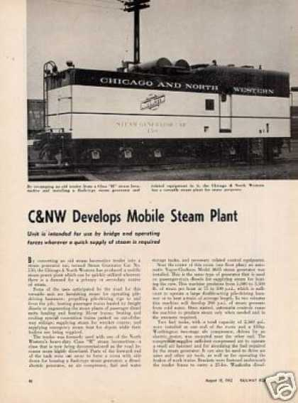 """C&nw Develops Mobile Steam Plant"" Article (1952)"