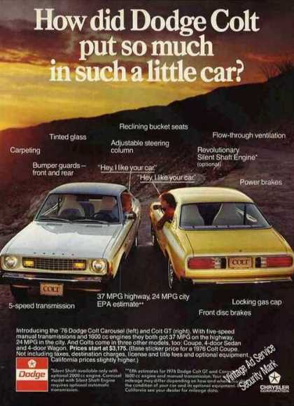 Dodge Colt Carousel & Gt Photos Car (1976)