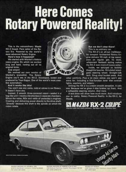 "Mazda Rx-2 Coupe ""Here Comes Rotary Reality"" (1971)"