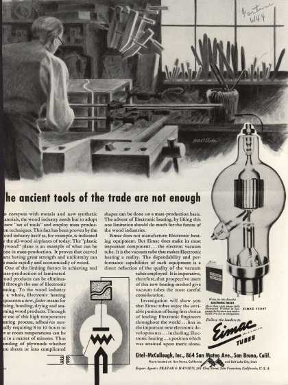 Eitel-McCullough's Eimac vacuum tubes – The ancient tools of the trade are not enough (1944)